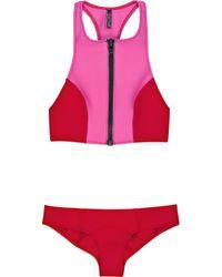 Lisa Marie Fernandez | Pink Kristi Zip-front Bikini | Lyst