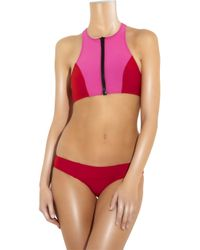 Lisa Marie Fernandez - Pink Kristi Zip-front Bikini - Lyst