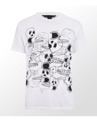 Marc By Marc Jacobs | White 10th Anniversary Skull T-shirt for Men | Lyst