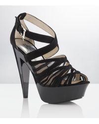 MICHAEL Michael Kors | Black Rina Platform Stiletto | Lyst