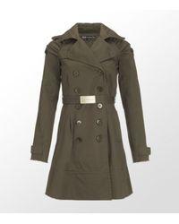 Patrizia Pepe | Green Trench Coat | Lyst