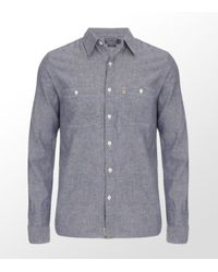 Ralph Lauren | Blue Chambray Linen Shirt for Men | Lyst