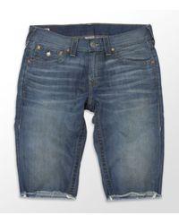 True Religion | Blue Ricky Cut-off Shorts for Men | Lyst