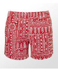 Ermenegildo Zegna | Red Tribal Print Swimming Shorts for Men | Lyst