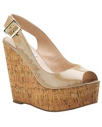 Steve Madden | Natural Wissper - Blush Patent Cork Wedge | Lyst