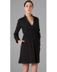 Theory | Black Linnie Shirtdress | Lyst