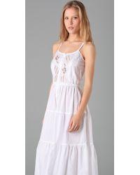 Beyond Vintage - White Peasant Cross Stitch Dress - Lyst
