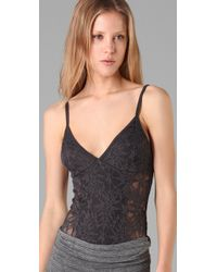 Nightcap | Gray Jungle Lace Bodysuit | Lyst