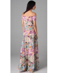 Zimmermann | Multicolor Posy Floral-print Cotton-voile Maxi Dress | Lyst
