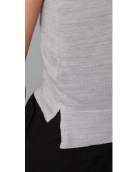 James Perse - Gray Binding Racer Back Tank - Lyst