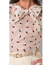 Marc By Marc Jacobs - Pink Odette Dot Embroidery Blouse - Lyst