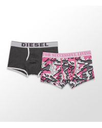 DIESEL | Multicolor Two Pack Camouflage Boxer Trunk for Men | Lyst