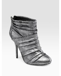 Elizabeth and James | Metallic Leather Ankle Boots | Lyst