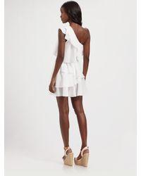 Jay Godfrey - White Robertson One Shoulder Asymmetrical Tiered Dress - Lyst