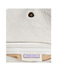 Jimmy Choo - White Leather and Snakeskin Brix Convertible Clutch - Lyst