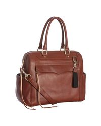Rebecca Minkoff | Brown Auburn Leather Knocked Up Diaper Bag with Changing Mat | Lyst