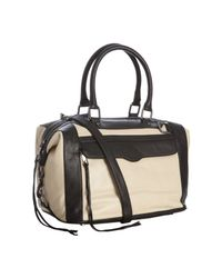 Rebecca Minkoff - Natural Cream Leather Mab Satchel with Strap - Lyst