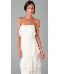 Thread Social - White Caitlin Tiered Gown - Lyst