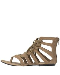 7 For All Mankind | Natural Dylan - Clay Suede Thong Sandal | Lyst