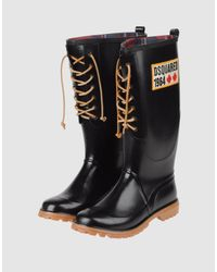 DSquared² - Black Ankle Boots for Men - Lyst