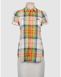 DSquared² | Multicolor Short Sleeve Plaid Pocket Shirt | Lyst