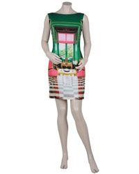 Mary Katrantzou | Multicolor Gateway Printed Silk and Cotton-blend Dress | Lyst