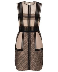 3.1 Phillip Lim | Brown Silk-blend Organza and Lace Dress | Lyst