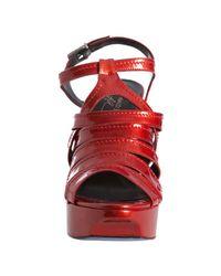 Donald J Pliner - Red Fire Patent Leather Cleva Platform Sandals - Lyst
