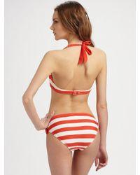 Marc By Marc Jacobs | Red Bella Striped Bikini Bottom | Lyst