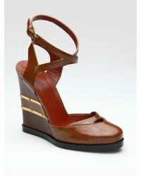 Marc By Marc Jacobs | Brown Closed-toe Wedge Pumps | Lyst