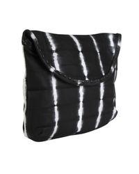 Sammy Ethiopia - Black Tie Dye Strip Leather Clutch Bag - Lyst