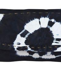 Sammy Ethiopia - Blue Navy Chu Chu Tie Dye Leather Clutch Bag - Lyst