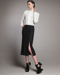 Alexander McQueen   Black Double-slit Sailor Skirt   Lyst