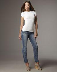 J Brand | Blue Skinny Santorini Ankle Jeans | Lyst