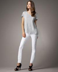 J Brand | White Mid-rise Skinny Aspen Ankle Jeans | Lyst