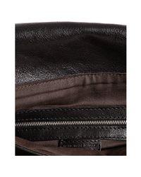 John Varvatos - Black Leather Whipstiched Slim Messenger Bag for Men - Lyst