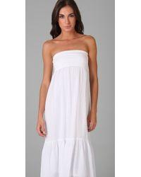 Splendid - White Linen Skirt / Dress - Lyst