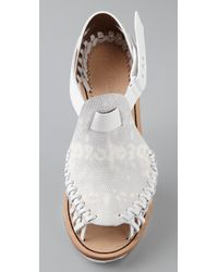 Thakoon - White Giuseppe Zanotti For Woven Edge Pumps - Lyst