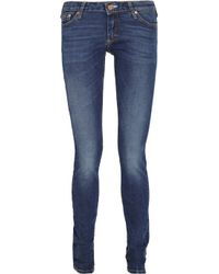 Acne | Blue Kex Fresh Low-rise Skinny Jeans | Lyst