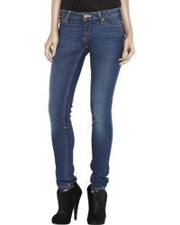 Acne Studios | Blue Flex Mid-rise Skinny Jeans | Lyst