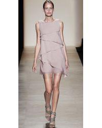 BCBGMAXAZRIA | Pink Celine Cascade Dress | Lyst