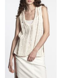 Alexander Wang | White Knitted Crochet Tank | Lyst