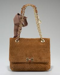 Lanvin | Brown Happy Quilted Suede Shoulder Bag | Lyst