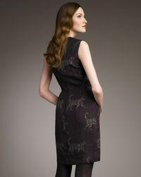 Lanvin | Purple Catwalk Logo-print Sheath Dress | Lyst