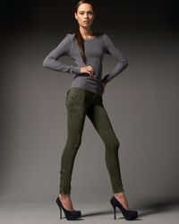 Rock & Republic | Green Teddie Slouch Skinny Jeans, Olive | Lyst