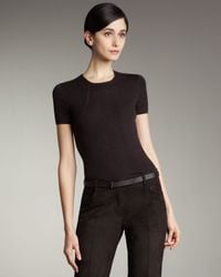 Akris | Brown Short-sleeve Pullover Top | Lyst
