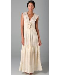 Beyond Vintage - White Intricate Emb Wedding Dress - Lyst