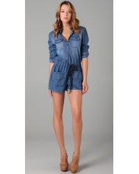 Dallin Chase - Blue Fieldston Denim Romper - Lyst