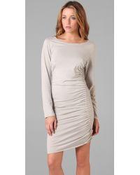 Jarbo | White Long Sleeve Pintuck Dress | Lyst