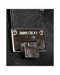 Jimmy Choo - Black Rhea Grainy Calf Medium Tote - Lyst